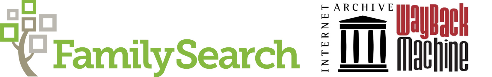 Family Search and Internet Archive logos